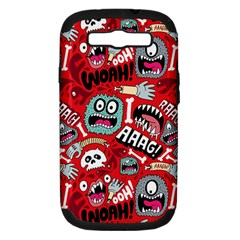 Agghh Pattern Samsung Galaxy S III Hardshell Case (PC+Silicone)