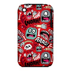 Agghh Pattern Apple Iphone 3g/3gs Hardshell Case (pc+silicone)