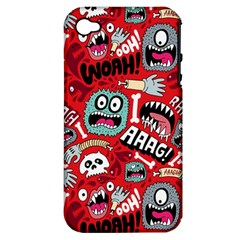Agghh Pattern Apple iPhone 4/4S Hardshell Case (PC+Silicone)