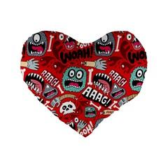 Agghh Pattern Standard 16  Premium Heart Shape Cushions