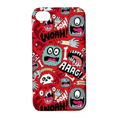 Agghh Pattern Apple iPhone 4/4S Hardshell Case with Stand