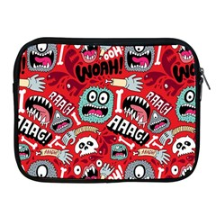 Agghh Pattern Apple iPad 2/3/4 Zipper Cases