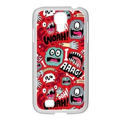 Agghh Pattern Samsung GALAXY S4 I9500/ I9505 Case (White)