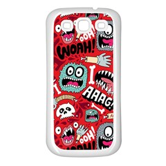 Agghh Pattern Samsung Galaxy S3 Back Case (White)
