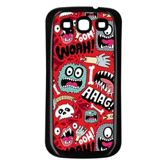 Agghh Pattern Samsung Galaxy S3 Back Case (Black)