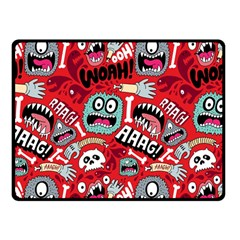 Agghh Pattern Double Sided Fleece Blanket (Small)