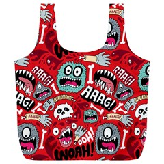Agghh Pattern Full Print Recycle Bags (l)