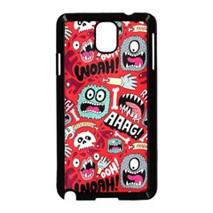 Agghh Pattern Samsung Galaxy Note 3 Neo Hardshell Case (Black)