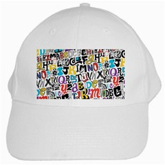 Alpha Pattern White Cap