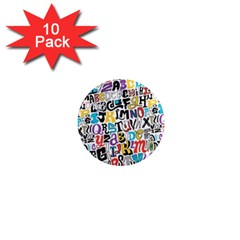 Alpha Pattern 1  Mini Magnet (10 pack)
