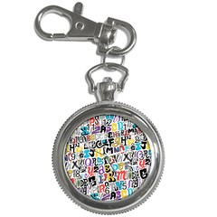 Alpha Pattern Key Chain Watches