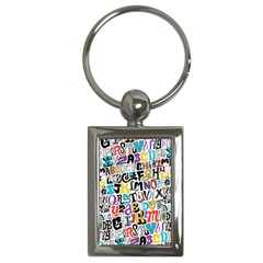 Alpha Pattern Key Chains (Rectangle)