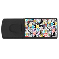 Alpha Pattern USB Flash Drive Rectangular (2 GB)