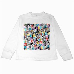 Alpha Pattern Kids Long Sleeve T-Shirts