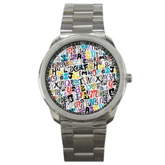 Alpha Pattern Sport Metal Watch
