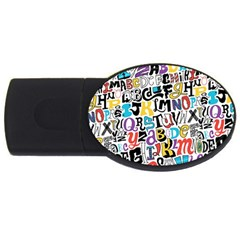 Alpha Pattern USB Flash Drive Oval (4 GB)