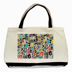 Alpha Pattern Basic Tote Bag (Two Sides)