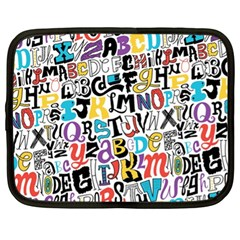 Alpha Pattern Netbook Case (XL)
