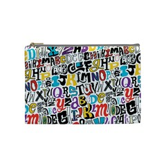 Alpha Pattern Cosmetic Bag (medium)