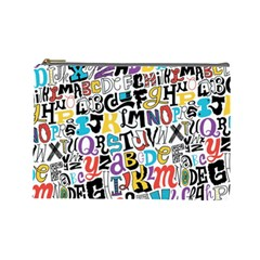 Alpha Pattern Cosmetic Bag (Large)