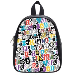 Alpha Pattern School Bags (Small)
