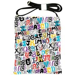 Alpha Pattern Shoulder Sling Bags