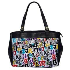 Alpha Pattern Office Handbags
