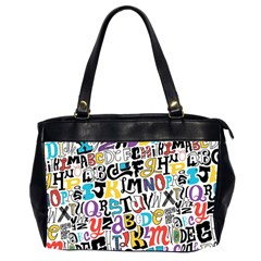 Alpha Pattern Office Handbags (2 Sides)