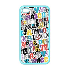 Alpha Pattern Apple Iphone 4 Case (color)