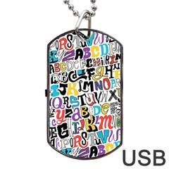 Alpha Pattern Dog Tag USB Flash (One Side)