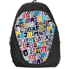 Alpha Pattern Backpack Bag