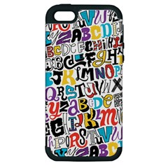 Alpha Pattern Apple Iphone 5 Hardshell Case (pc+silicone)