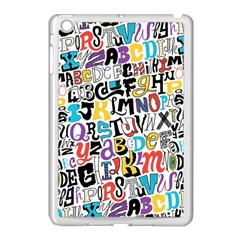 Alpha Pattern Apple Ipad Mini Case (white)