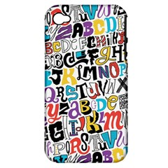 Alpha Pattern Apple iPhone 4/4S Hardshell Case (PC+Silicone)