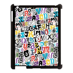 Alpha Pattern Apple Ipad 3/4 Case (black)