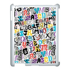 Alpha Pattern Apple iPad 3/4 Case (White)