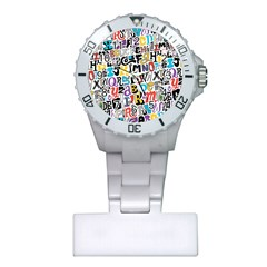Alpha Pattern Plastic Nurses Watch