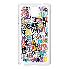 Alpha Pattern Samsung Galaxy Note 3 N9005 Case (white)