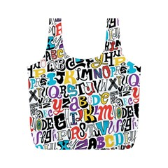 Alpha Pattern Full Print Recycle Bags (m)