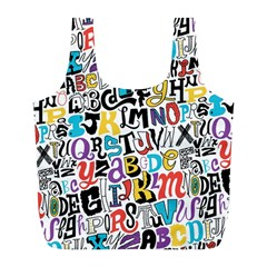 Alpha Pattern Full Print Recycle Bags (l)
