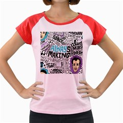 Always Making Pattern Women s Cap Sleeve T-Shirt