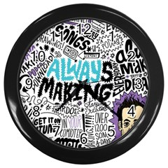 Always Making Pattern Wall Clocks (black)
