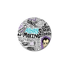 Always Making Pattern Golf Ball Marker (4 pack)