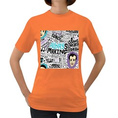 Always Making Pattern Women s Dark T-Shirt