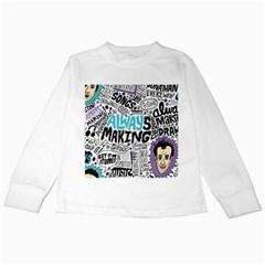 Always Making Pattern Kids Long Sleeve T-Shirts
