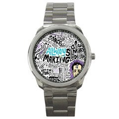 Always Making Pattern Sport Metal Watch