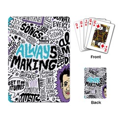 Always Making Pattern Playing Card