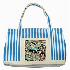 Always Making Pattern Striped Blue Tote Bag
