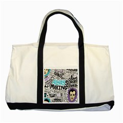 Always Making Pattern Two Tone Tote Bag