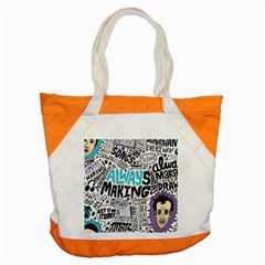 Always Making Pattern Accent Tote Bag